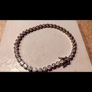 Jewelry - 925 Sterling Silver CZ tennis bracelet.